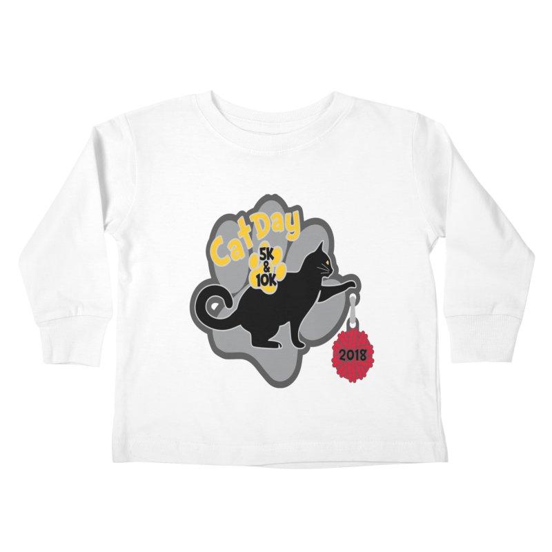 Cat Day 5K & 10K Kids Toddler Longsleeve T-Shirt by moonjoggers's Artist Shop