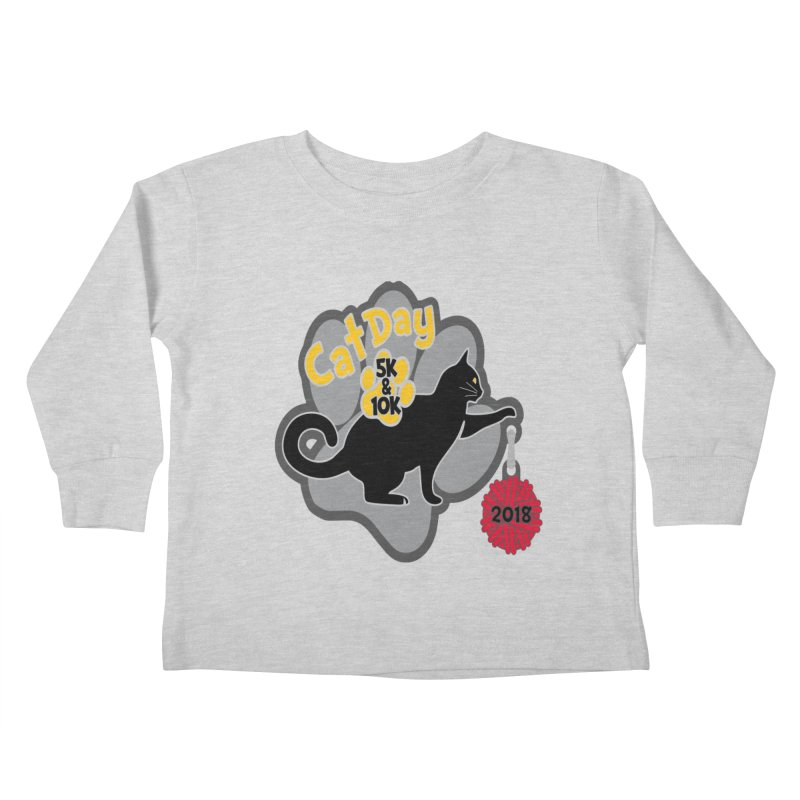 Cat Day 5K & 10K Kids Toddler Longsleeve T-Shirt by moonjoggers's Artist Shop