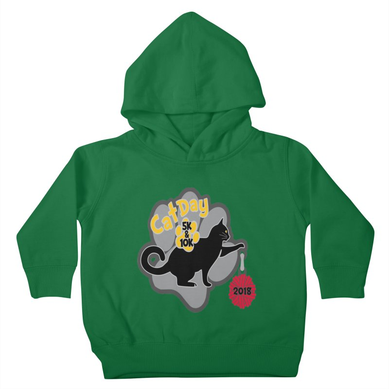 Cat Day 5K & 10K Kids Toddler Pullover Hoody by moonjoggers's Artist Shop