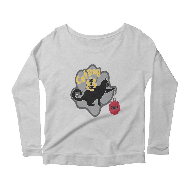Cat Day 5K & 10K Women's Scoop Neck Longsleeve T-Shirt by moonjoggers's Artist Shop