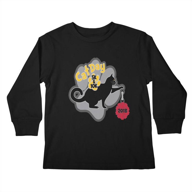 Cat Day 5K & 10K Kids Longsleeve T-Shirt by moonjoggers's Artist Shop
