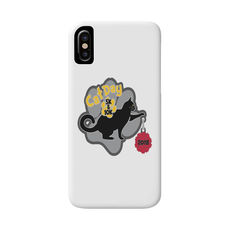 Cat Day 5K & 10K Accessories Phone Case by moonjoggers's Artist Shop