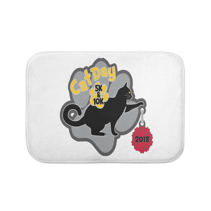 Cat Day 5K & 10K Home Bath Mat by moonjoggers's Artist Shop