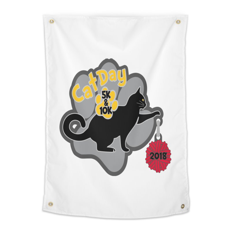 Cat Day 5K & 10K Home Tapestry by Moon Joggers's Artist Shop