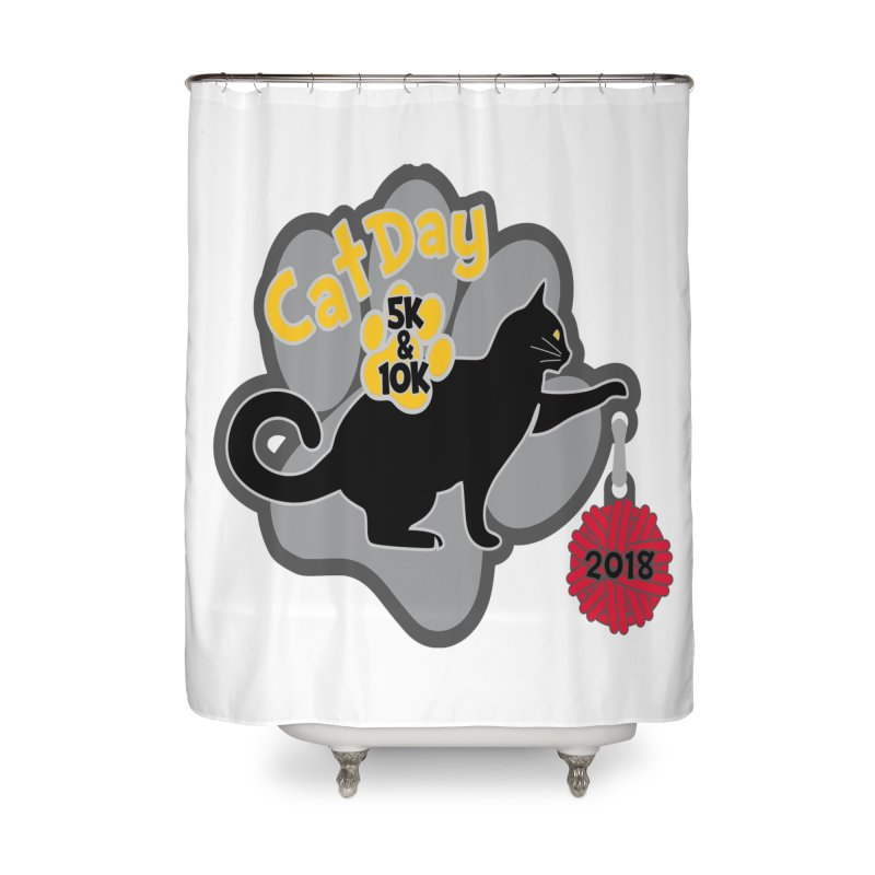 Cat Day 5K & 10K Home Shower Curtain by moonjoggers's Artist Shop