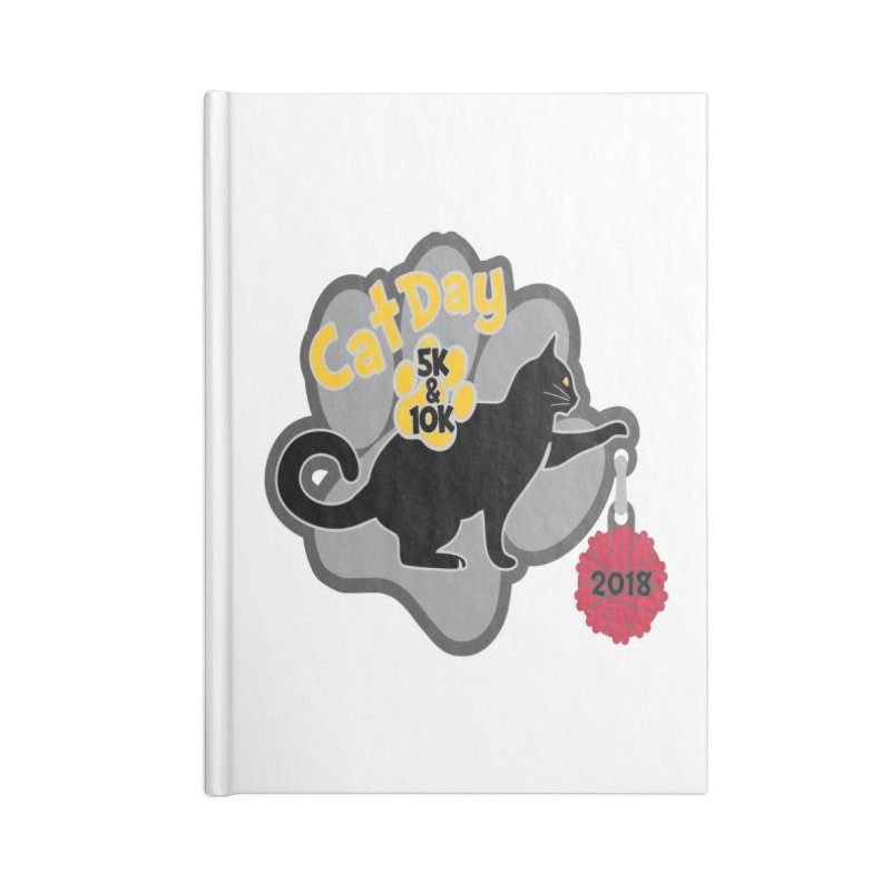 Cat Day 5K & 10K Accessories Notebook by moonjoggers's Artist Shop