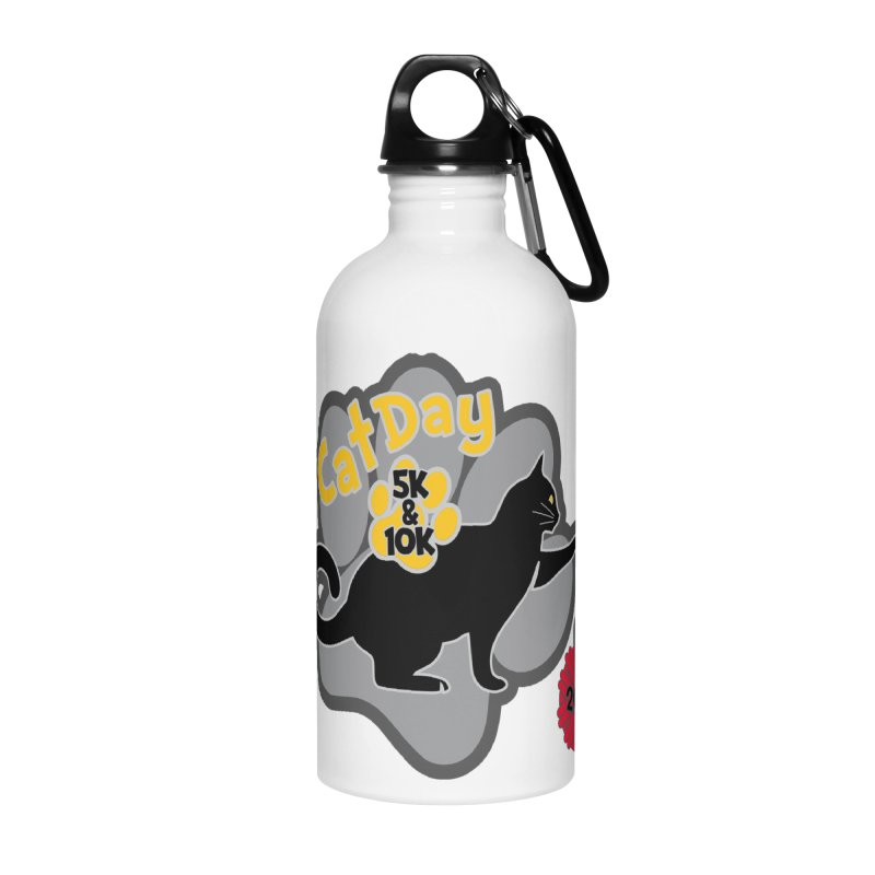 Cat Day 5K & 10K Accessories Water Bottle by moonjoggers's Artist Shop