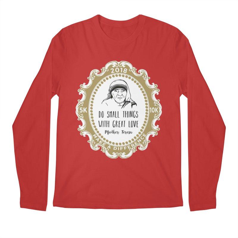 Make A Difference Day 5K & 10K: Remembering Mother Teresa Men's Regular Longsleeve T-Shirt by moonjoggers's Artist Shop