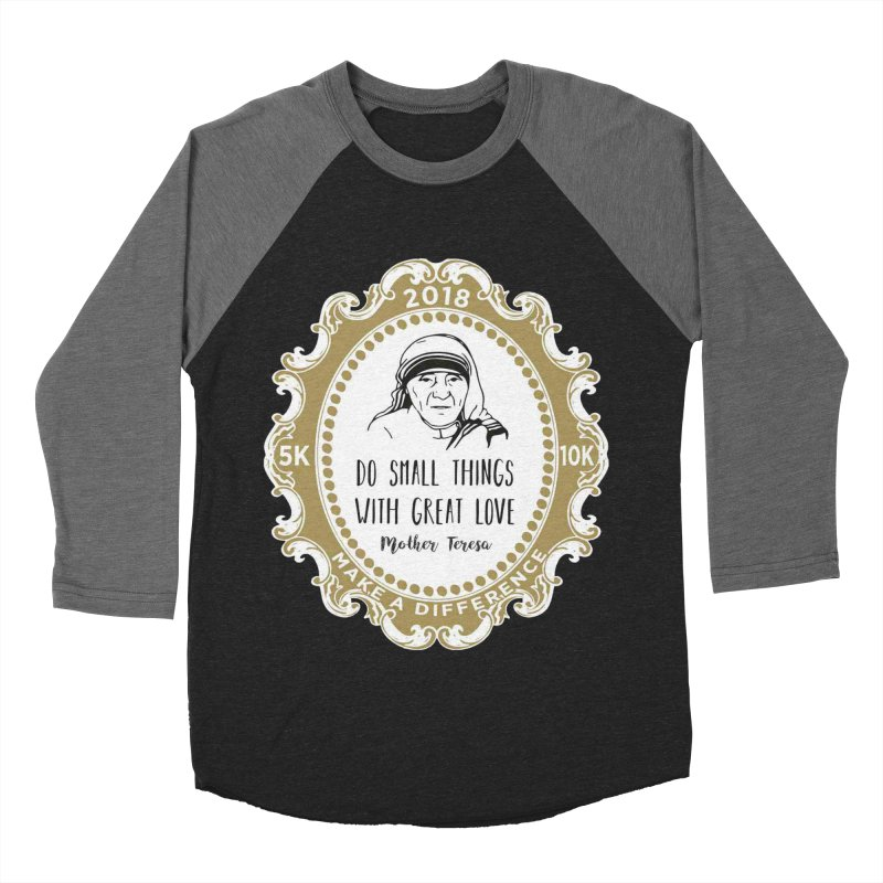 Make A Difference Day 5K & 10K: Remembering Mother Teresa Men's Baseball Triblend T-Shirt by moonjoggers's Artist Shop