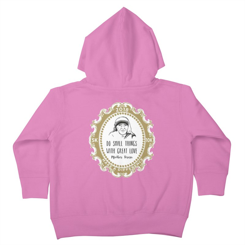 Make A Difference Day 5K & 10K: Remembering Mother Teresa Kids Toddler Zip-Up Hoody by moonjoggers's Artist Shop