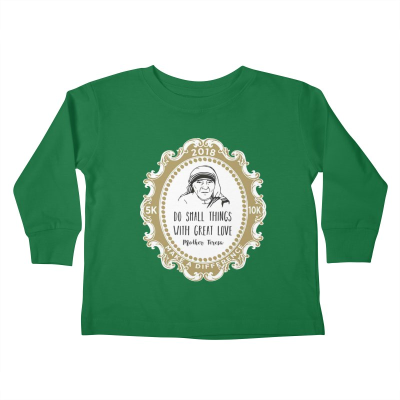Make A Difference Day 5K & 10K: Remembering Mother Teresa Kids Toddler Longsleeve T-Shirt by moonjoggers's Artist Shop