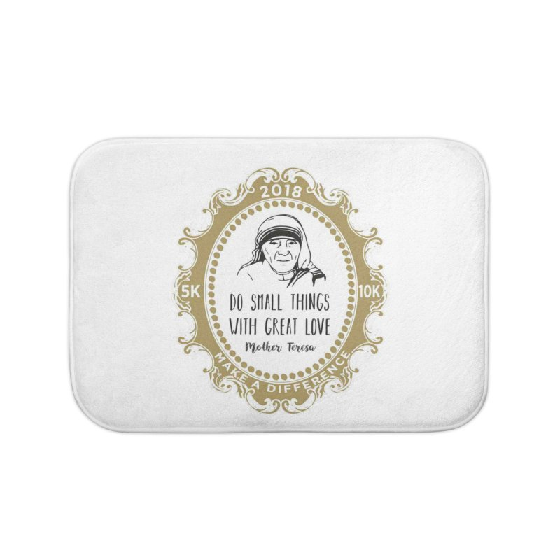Make A Difference Day 5K & 10K: Remembering Mother Teresa Home Bath Mat by moonjoggers's Artist Shop