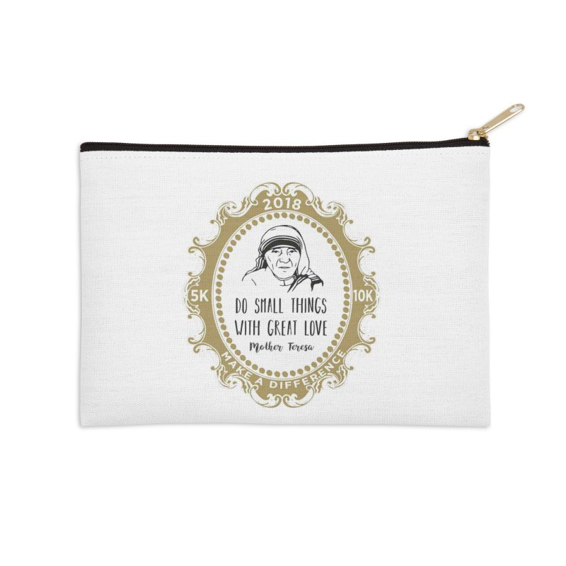 Make A Difference Day 5K & 10K: Remembering Mother Teresa Accessories Zip Pouch by moonjoggers's Artist Shop