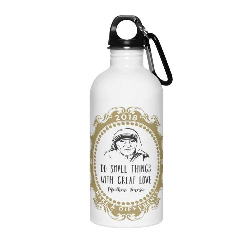 Make A Difference Day 5K & 10K: Remembering Mother Teresa Accessories Water Bottle by moonjoggers's Artist Shop