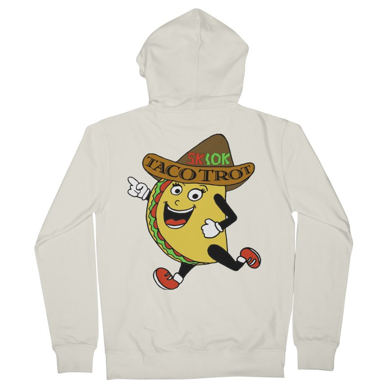 Taco Trot 5K & 10K Men's French Terry Zip-Up Hoody by moonjoggers's Artist Shop