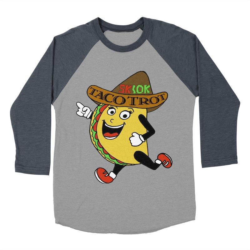 Taco Trot 5K & 10K Men's Baseball Triblend Longsleeve T-Shirt by moonjoggers's Artist Shop