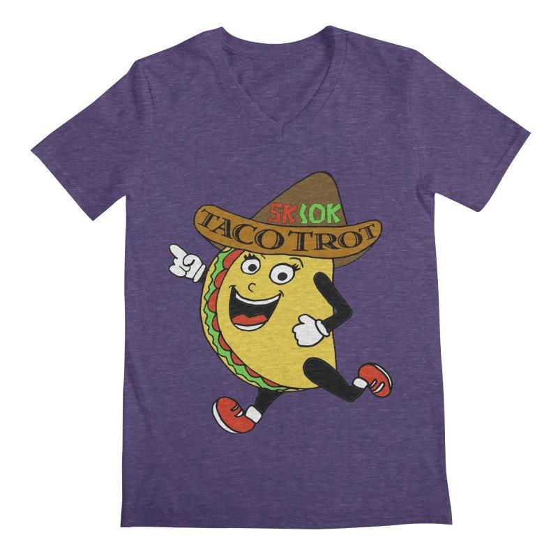 Taco Trot 5K & 10K Men's Regular V-Neck by moonjoggers's Artist Shop