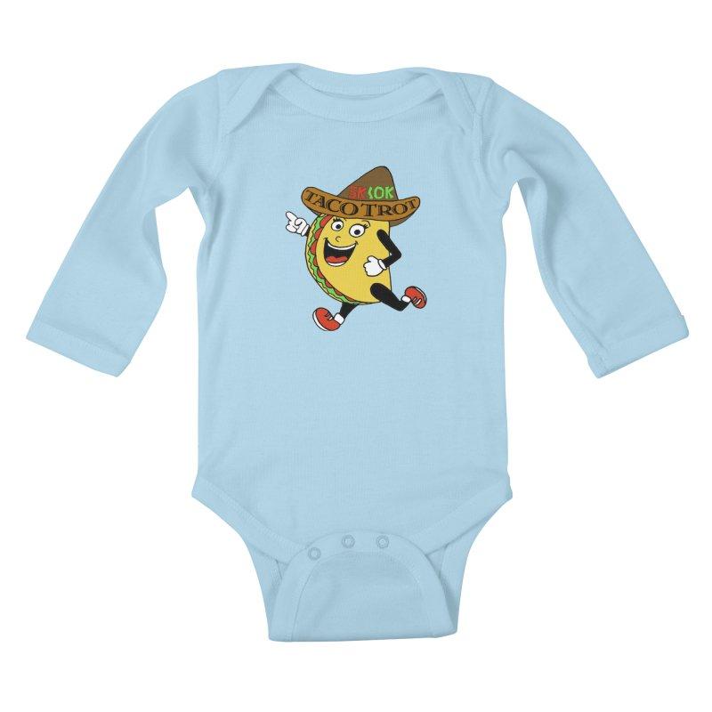 Taco Trot 5K & 10K Kids Baby Longsleeve Bodysuit by moonjoggers's Artist Shop
