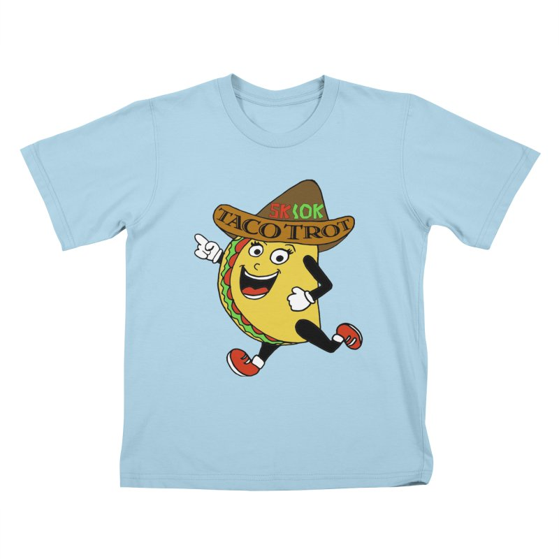Taco Trot 5K & 10K Kids T-Shirt by moonjoggers's Artist Shop