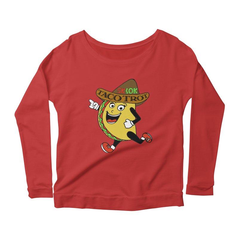Taco Trot 5K & 10K Women's Scoop Neck Longsleeve T-Shirt by moonjoggers's Artist Shop