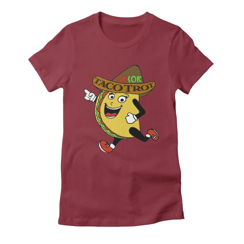 Taco Trot 5K & 10K Women's Fitted T-Shirt by moonjoggers's Artist Shop