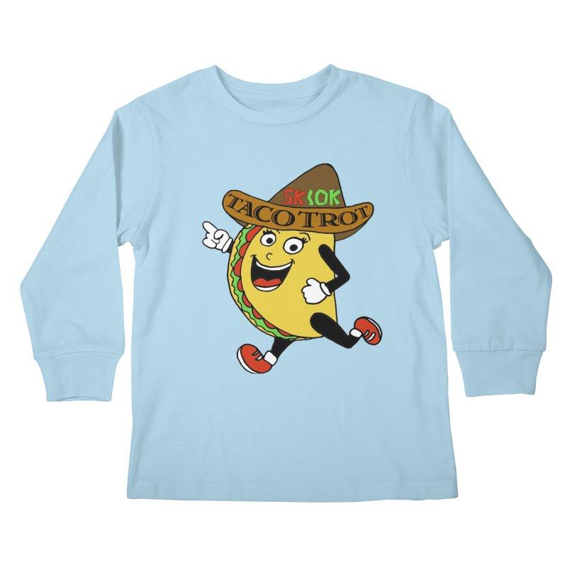 Taco Trot 5K & 10K Kids Longsleeve T-Shirt by moonjoggers's Artist Shop