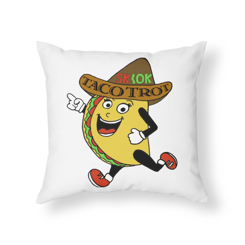 Taco Trot 5K & 10K Home Throw Pillow by moonjoggers's Artist Shop