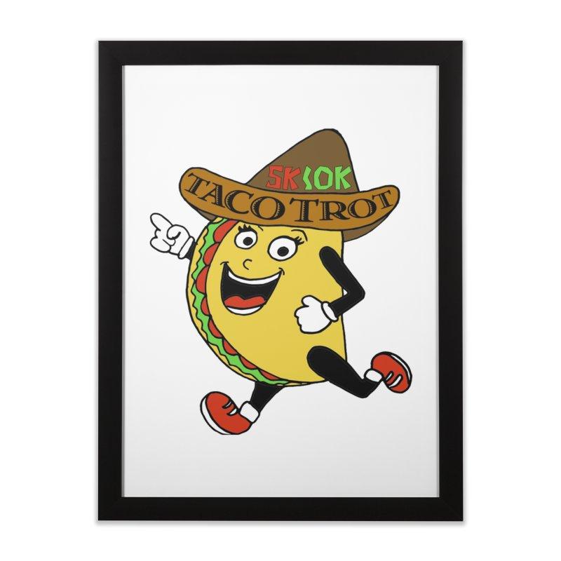 Taco Trot 5K & 10K Home Framed Fine Art Print by moonjoggers's Artist Shop