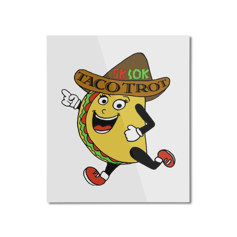Taco Trot 5K & 10K Home Mounted Aluminum Print by moonjoggers's Artist Shop