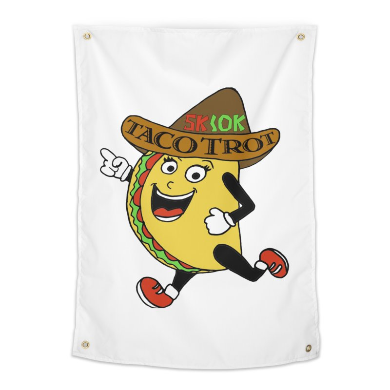 Taco Trot 5K & 10K Home Tapestry by moonjoggers's Artist Shop