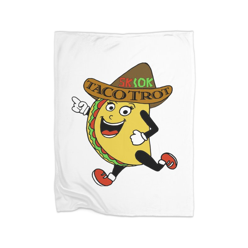 Taco Trot 5K & 10K Home Blanket by moonjoggers's Artist Shop