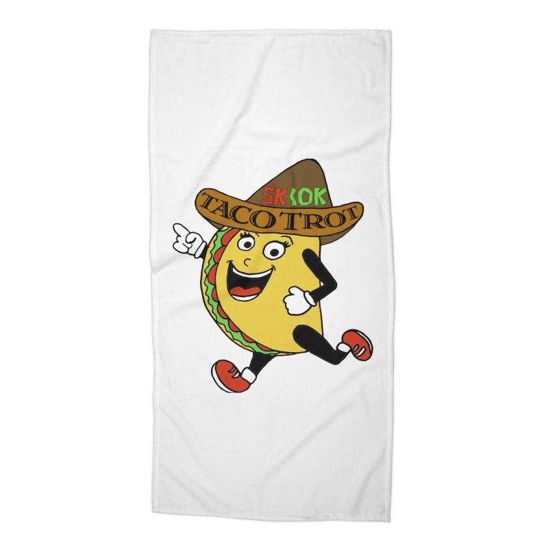 Taco Trot 5K & 10K Accessories Beach Towel by moonjoggers's Artist Shop
