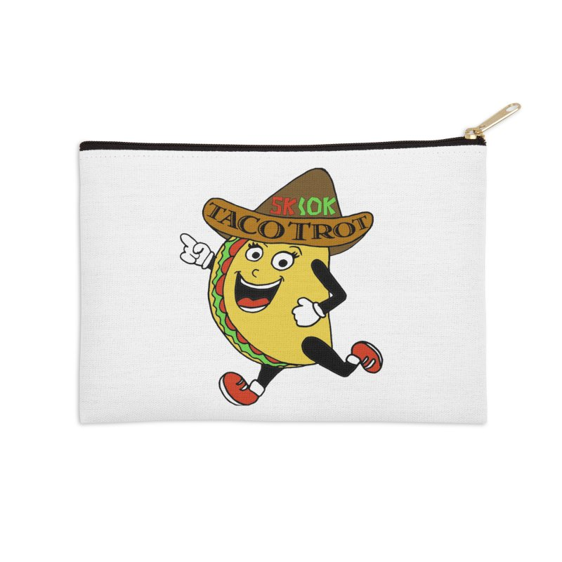 Taco Trot 5K & 10K Accessories Zip Pouch by moonjoggers's Artist Shop