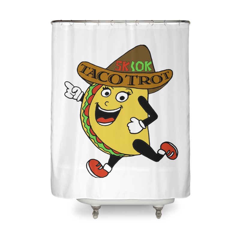 Taco Trot 5K & 10K Home Shower Curtain by moonjoggers's Artist Shop