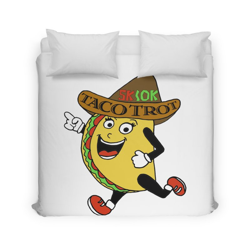 Taco Trot 5K & 10K Home Duvet by moonjoggers's Artist Shop