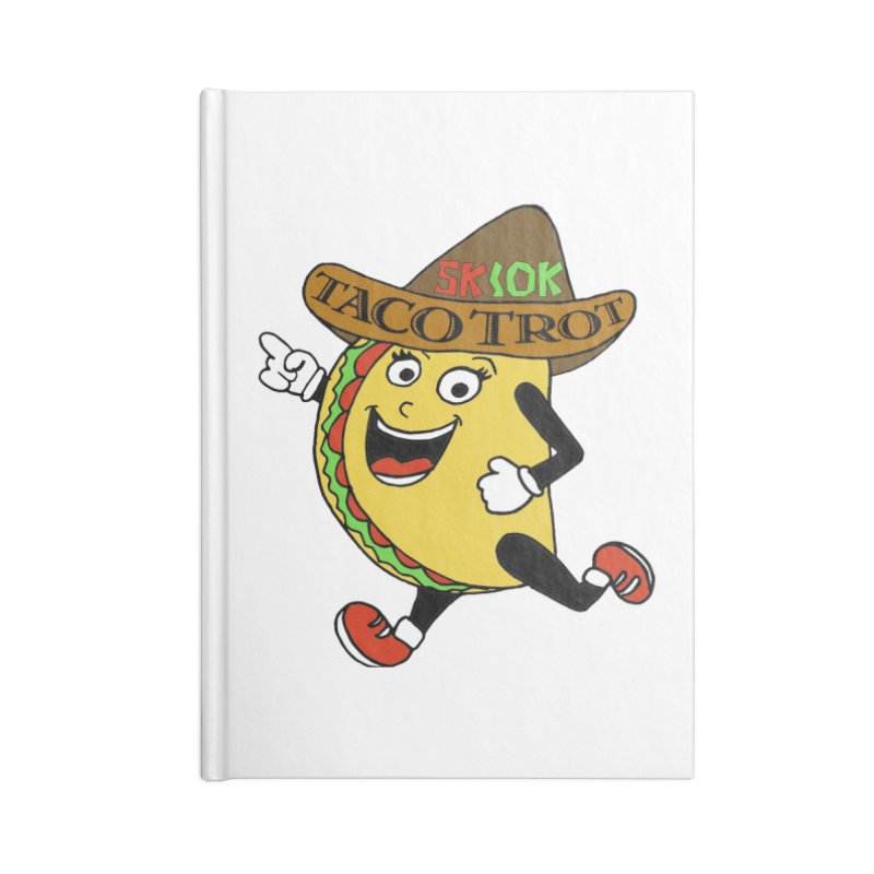 Taco Trot 5K & 10K Accessories Notebook by moonjoggers's Artist Shop