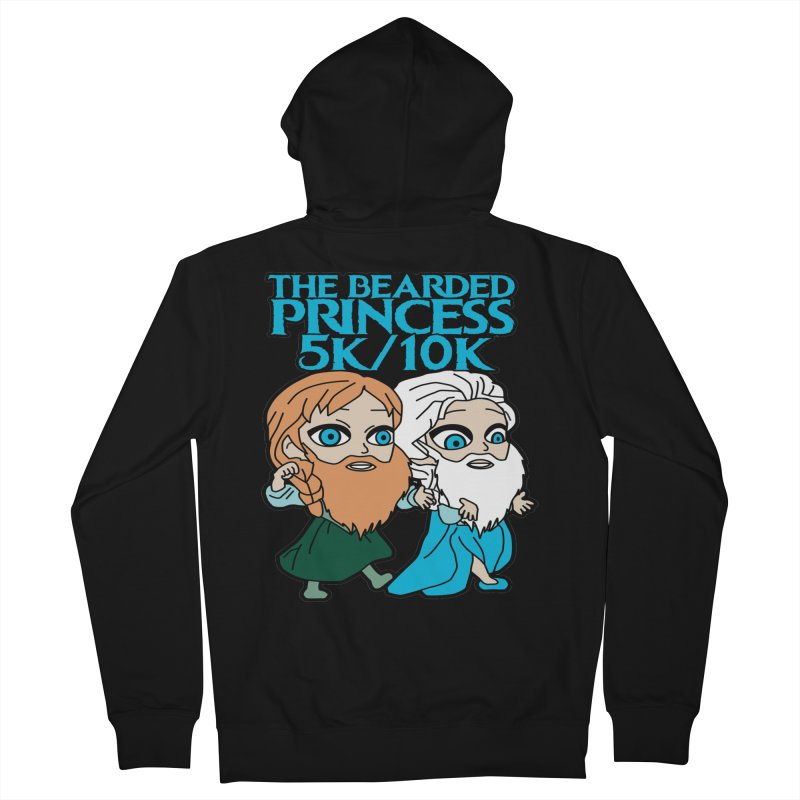 THE BEARDED PRINCESS 5K & 10K: EZRA AND ANSON Men's French Terry Zip-Up Hoody by moonjoggers's Artist Shop