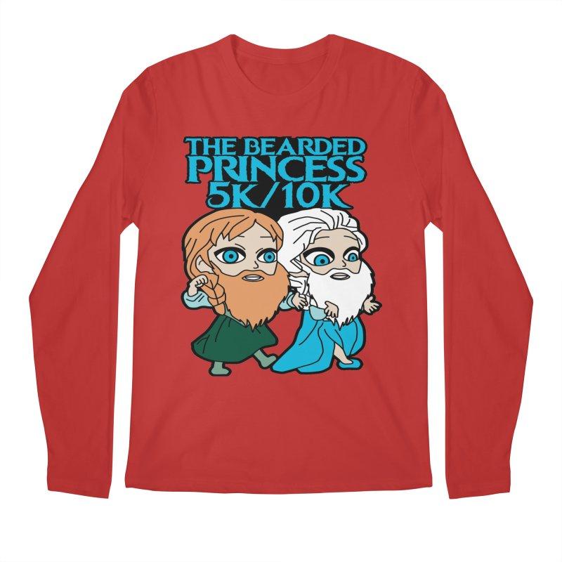 THE BEARDED PRINCESS 5K & 10K: EZRA AND ANSON Men's Regular Longsleeve T-Shirt by moonjoggers's Artist Shop