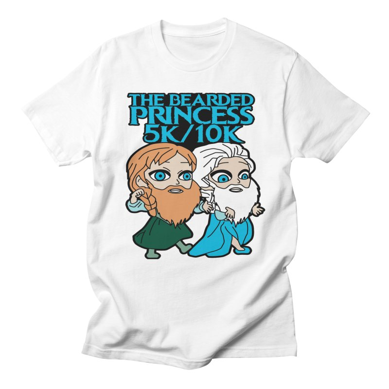 THE BEARDED PRINCESS 5K & 10K: EZRA AND ANSON Men's T-Shirt by moonjoggers's Artist Shop