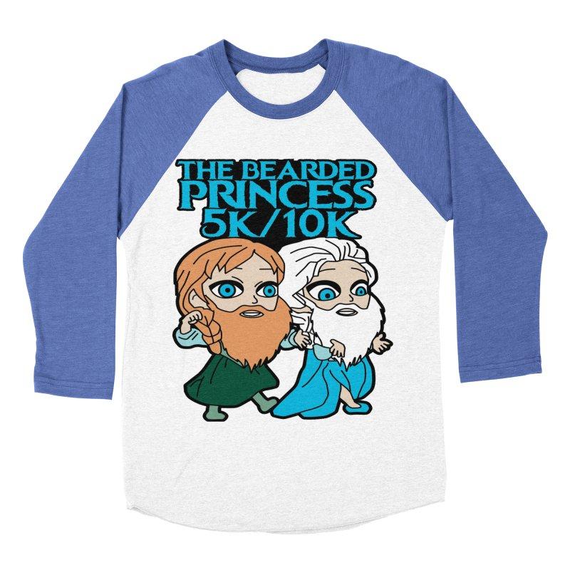 THE BEARDED PRINCESS 5K & 10K: EZRA AND ANSON Women's Baseball Triblend T-Shirt by moonjoggers's Artist Shop