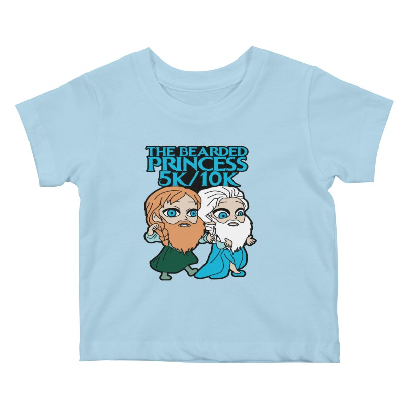 THE BEARDED PRINCESS 5K & 10K: EZRA AND ANSON Kids Baby T-Shirt by moonjoggers's Artist Shop