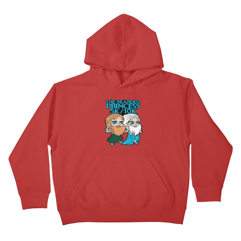 THE BEARDED PRINCESS 5K & 10K: EZRA AND ANSON Kids Pullover Hoody by moonjoggers's Artist Shop