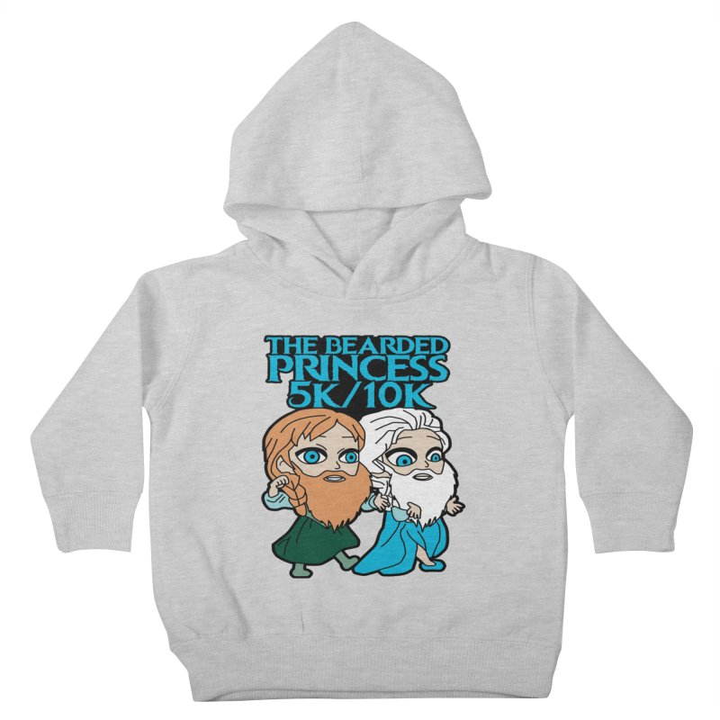 THE BEARDED PRINCESS 5K & 10K: EZRA AND ANSON Kids Toddler Pullover Hoody by moonjoggers's Artist Shop