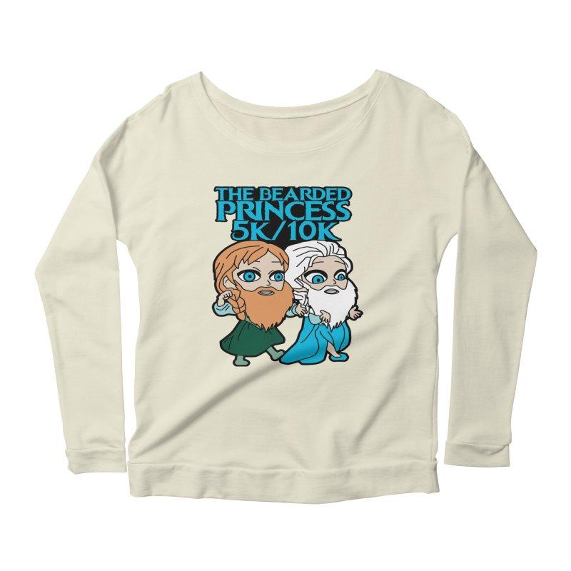 THE BEARDED PRINCESS 5K & 10K: EZRA AND ANSON Women's Scoop Neck Longsleeve T-Shirt by moonjoggers's Artist Shop