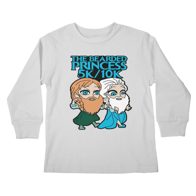 THE BEARDED PRINCESS 5K & 10K: EZRA AND ANSON Kids Longsleeve T-Shirt by moonjoggers's Artist Shop
