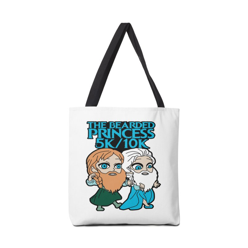 THE BEARDED PRINCESS 5K & 10K: EZRA AND ANSON Accessories Bag by moonjoggers's Artist Shop
