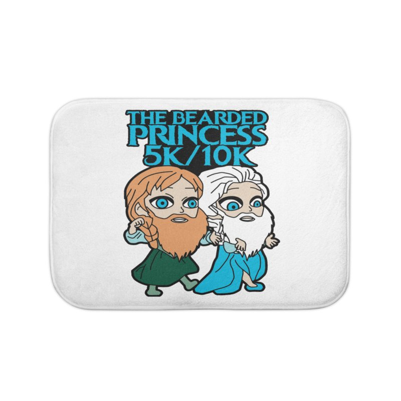 THE BEARDED PRINCESS 5K & 10K: EZRA AND ANSON Home Bath Mat by moonjoggers's Artist Shop