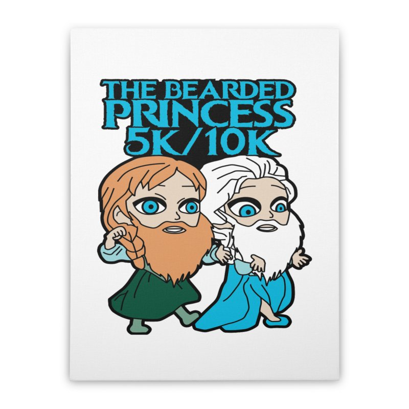 THE BEARDED PRINCESS 5K & 10K: EZRA AND ANSON Home Stretched Canvas by moonjoggers's Artist Shop