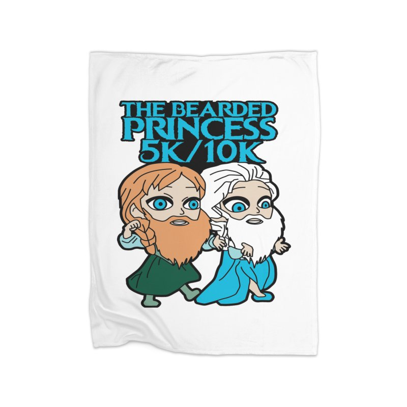 THE BEARDED PRINCESS 5K & 10K: EZRA AND ANSON Home Blanket by moonjoggers's Artist Shop