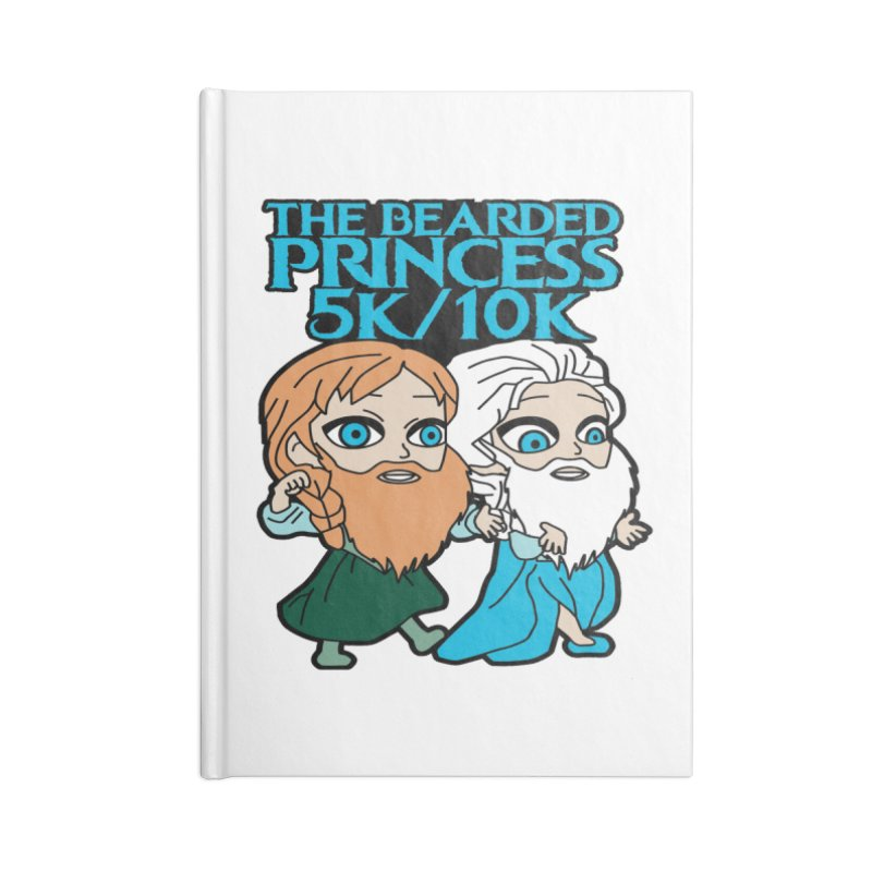 THE BEARDED PRINCESS 5K & 10K: EZRA AND ANSON Accessories Notebook by moonjoggers's Artist Shop